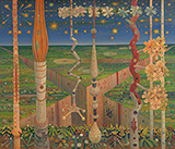 Roof Gardens - Jyothi  Basu - Contemporary Indian Art: A Selection from the Amaya Collection