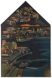 Untitled (The Bathing Ghat) - Bhupen  Khakhar - Modern Indian Art