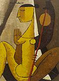 The Musician - I - Biren  De - Modern Indian Art