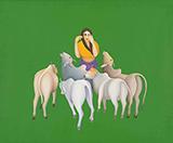 Untitled - Manjit  Bawa - Modern Indian Art