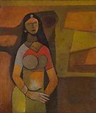Untitled - Bimal  Dasgupta - Modern Indian Art