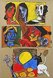 Untitled - M F Husain - Evening Sale | Mumbai, Live