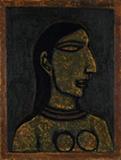 Untitled (Head of a Woman) - Akbar  Padamsee - Evening Sale | New Delhi, Live