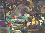 In a Forest - S H Raza - Evening Sale | New Delhi, Live