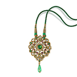 DIAMOND, RUBY AND EMERALD PENDANT -    - Fine Jewels: Ode to Nature