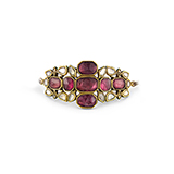 RUBELLITE TOURMALINE AND COLOURLESS SAPPHIRE BAJUBAND OR ARM ORNAMENT -    - Fine Jewels: Ode to Nature