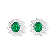 PAIR OF EMERALD AND DIAMOND EARRINGS - Fine Jewels: Ode to Nature