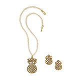 SUITE OF POLKI DIAMOND NECKLACE AND EARRINGS -    - Fine Jewels: Ode to Nature