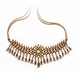 SPINEL AND DIAMOND POLKI NECKLACE -    - Fine Jewels: Ode to Nature