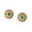 PAIR OF EMERALD, PEARL AND DIAMOND KARNPHOOL EARRINGS - Fine Jewels: Ode to Nature