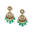 PAIR OF DIAMOND AND EMERALD CHANDBALI EARRINGS - Fine Jewels: Ode to Nature