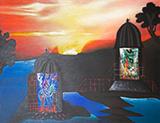 Sunrise - Manu  Parekh - Art Rises for Kerala Live Fundraiser Auction