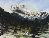 Lands, Waters and Skies: Imagined Mountains - Nikhil  Chopra - Art Rises for Kerala Live Fundraiser Auction