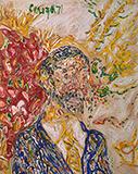 Untitled (Self Portrait) - F N Souza - Spring Live Auction