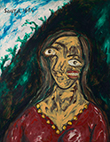 Portrait of Suruchi Chand - F N Souza - Spring Live Auction