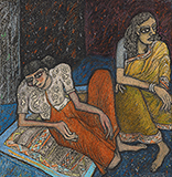 Untitled (Two Women) - Jogen  Chowdhury - Spring Live Auction