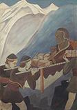 Srijnana (Atisa) Dipankara crossing over to Tibet - Asit Kumar Haldar - Spring Online Auction