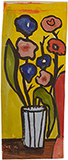 Untitled (Flowers in Vase) - F N Souza - Spring Online Auction