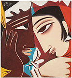 Untitled (Nayika and The Lover) - George  Keyt - Spring Online Auction