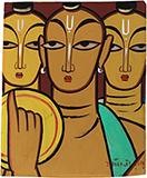Untitled (Three Saints) - Jamini  Roy - Spring Online Auction