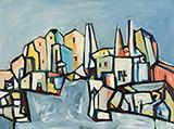 Untitled (Townscape) - Sadanand  Bakre - Spring Online Auction