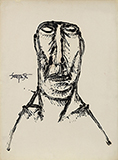 Untitled (Portrait of a Man) - F N Souza - Spring Online Auction