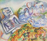 His Last Days of Aids - He Remembered His Friends - Bhupen  Khakhar - Winter Online Auction