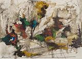 Fields and Trees - Krishen  Khanna - Winter Online Auction