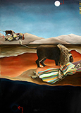 Two Moon - T.  Venkanna - Winter Online Auction