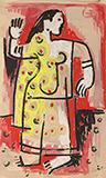 Untitled - K G Subramanyan - WORKS ON PAPER