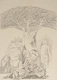 Untitled - Krishen  Khanna - WORKS ON PAPER