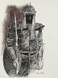 Untitled - K M Adimoolam - WORKS ON PAPER