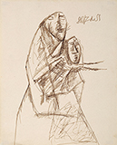 Untitled - F N Souza - WORKS ON PAPER
