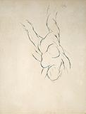Falling Figure II - Tyeb  Mehta - WORKS ON PAPER