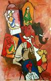 M F Husain-Untitled