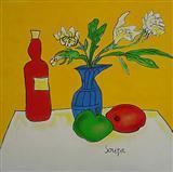 F N Souza-Still Life