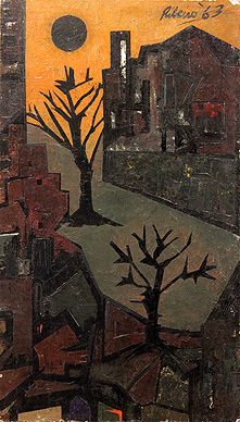 Townscape with Trees
