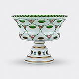 -BOHEMIAN DOUBLE OVERLAY GLASS VASE