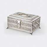 -SILVER JEWELLERY BOX