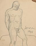 F N Souza-Untitled (Nude)