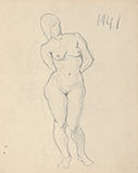 F N Souza-Untitled (Nude figure)