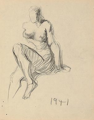 Untitled (Nude figure)