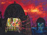 Manu  Parekh-Midnight Landscape