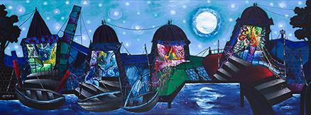 Moonlit Night at Banaras I