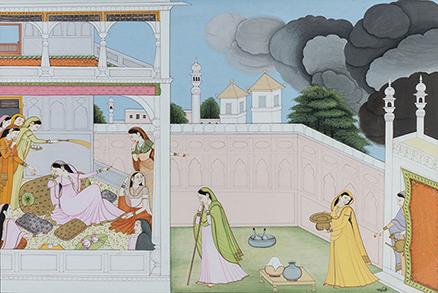Damayanti Tormented by Clouds