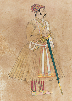 A standing Raja