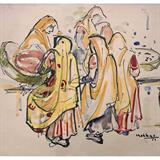 Untitled (Market Place) - K K Hebbar - Summer Online Auction