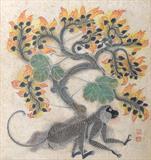Monkey on MitPalash Tree - A  Ramachandran - Summer Online Auction