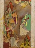 British Raj - M F Husain - Modern Indian Art