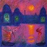 Sunset at Benares - Manu  Parekh - Modern and Contemporary South Asian Art and Collectibles